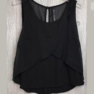 Jessica Simpson Black Top Dressy Blouse Medium